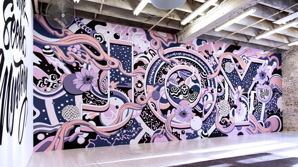 JOY, mural criado para a galeria China Heights, em Sydney, Austrália