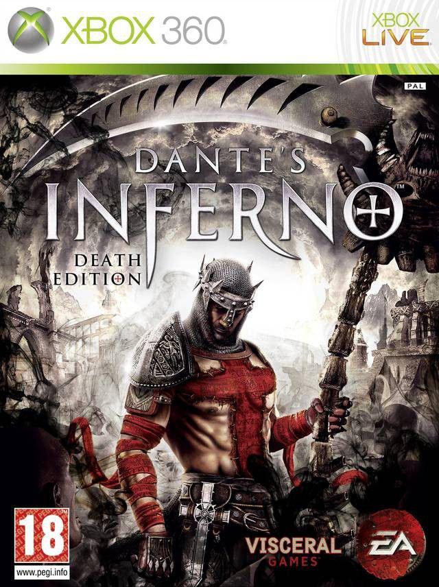 Capa do jogo Dante's Inferno para Xbox 360
