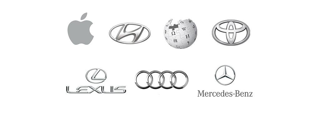 Exemplos de logo cinza