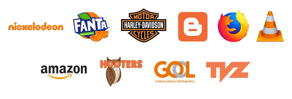 Exemplos de logo laranja
