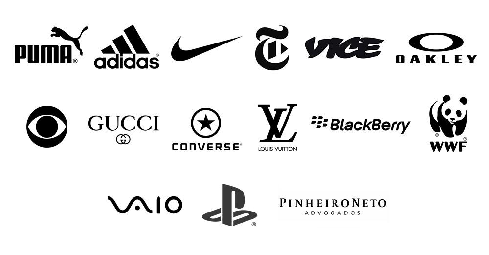 Exemplos de logo preto