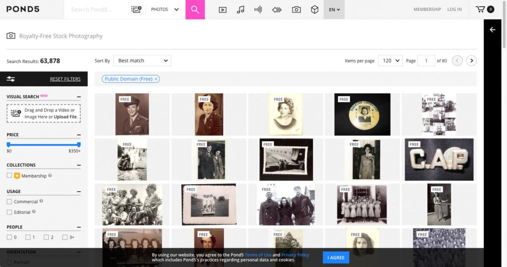 Pond5 Public Domain Photos