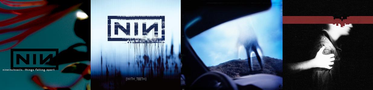 Capas de álbuns da banda Nine Inch Nails feitas por Rob Sheridan