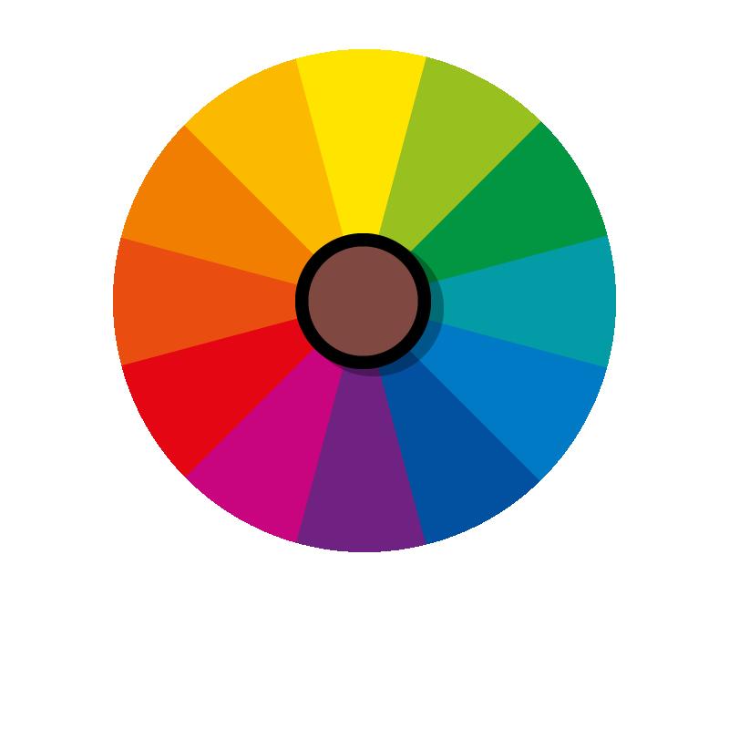 Cor marrom